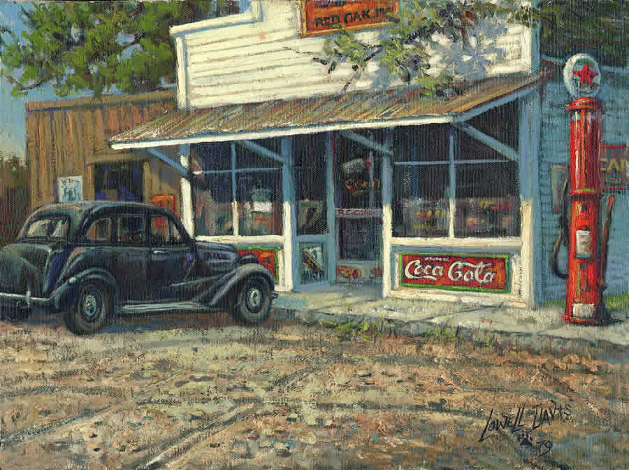red oak ii general store - lowell davis art, collectibles and books